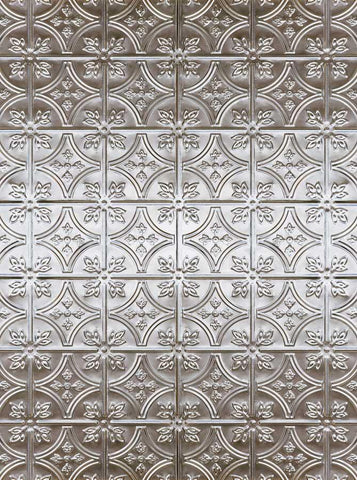 Silver Tin Tile Backdrop - 7155 - DropPlace