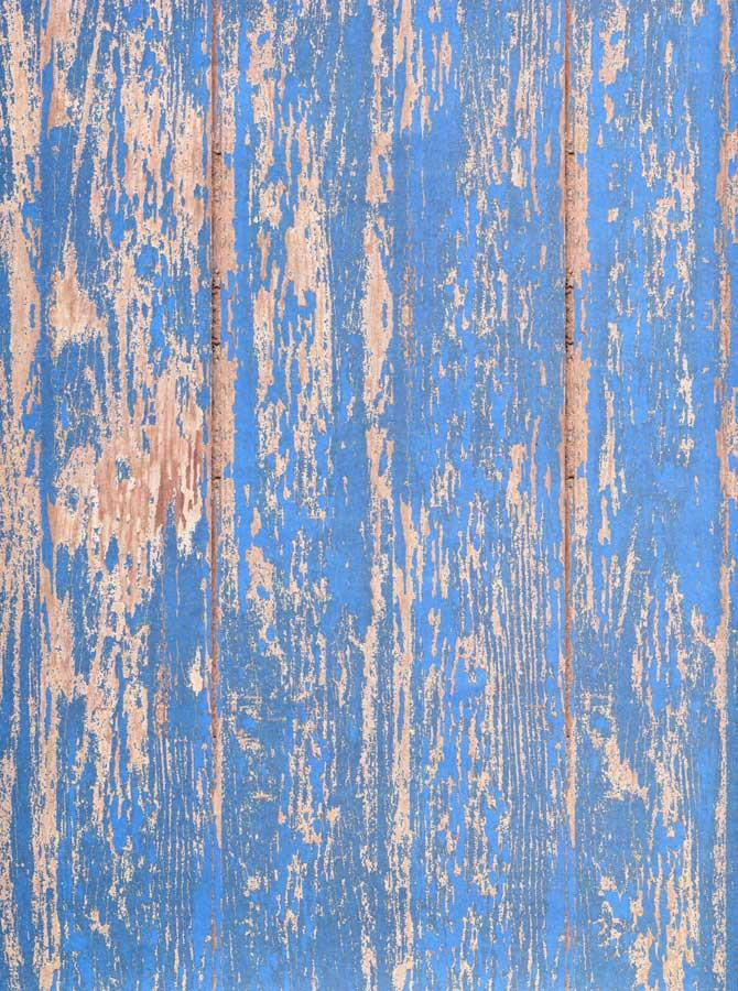 Weathered Blue Wood Backdrop - 7179