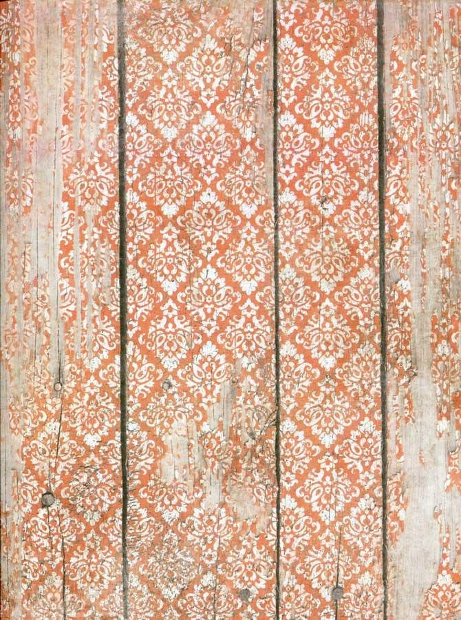 Coral Vintage Wallpaper Backdrop - 7197 - DropPlace