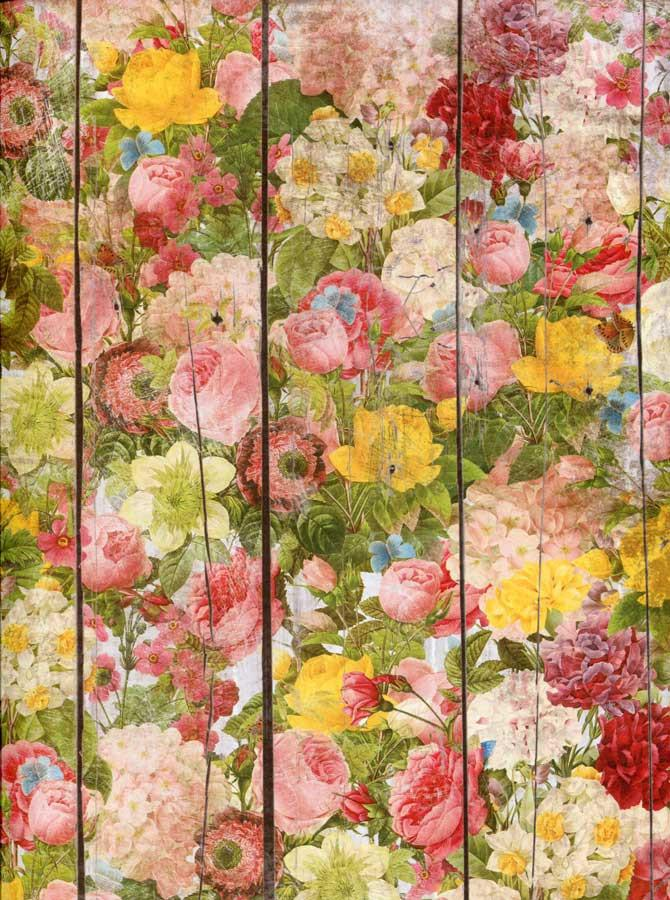 Fancy Flower Wood Backdrop - 7210 - DropPlace
