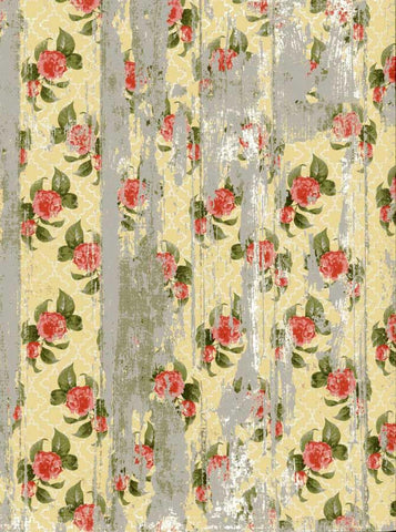 Yellow Flower Wood Backdrop - 7212 - DropPlace