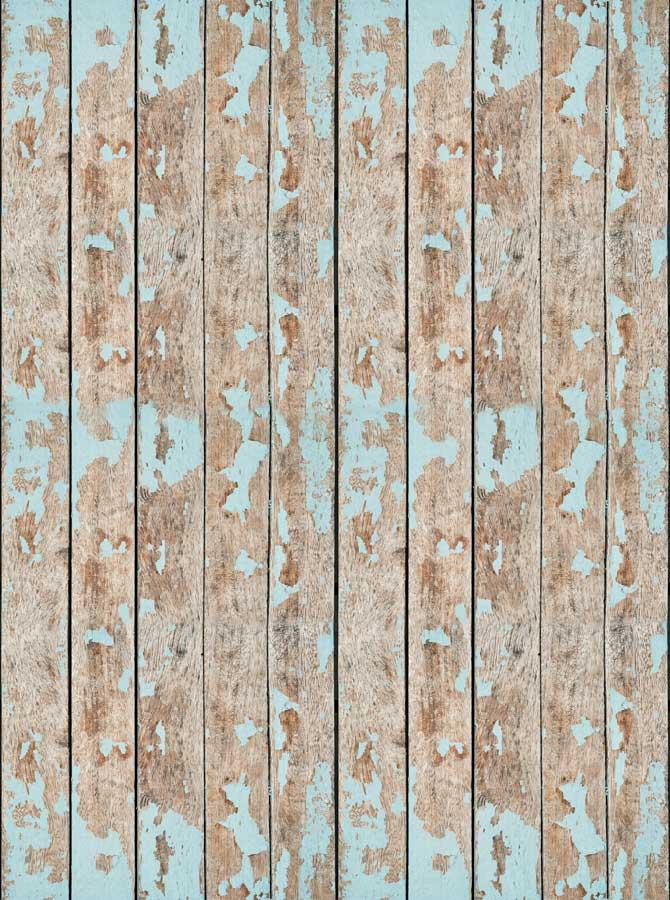 Teal Blue Wood Backdrop - 7871 - DropPlace