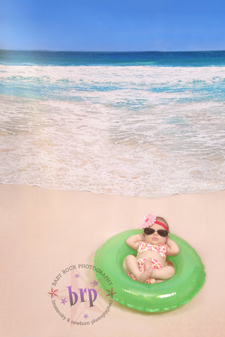 Toes in the Sand Printed Photo Background / 7983 - DropPlace
