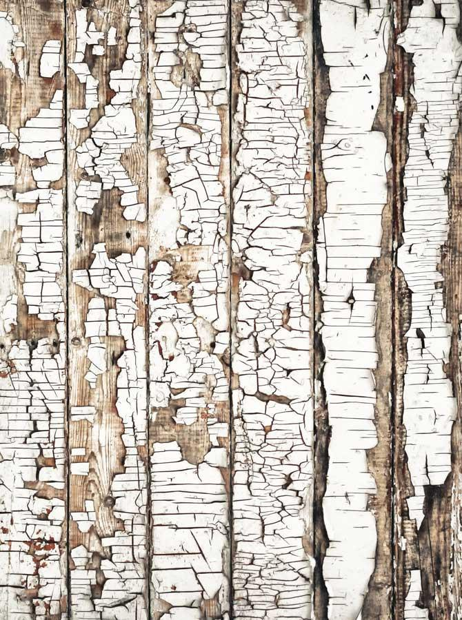 White Distressed Wood Backdrop - 821 - DropPlace
