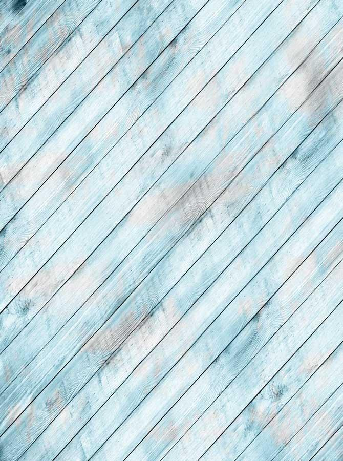 Light Blue Angle Wood Backdrop - 9001 - DropPlace