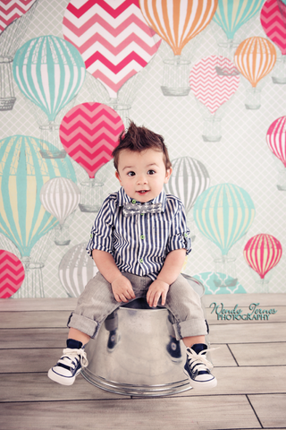 Hot Air Balloon Printed Photo Backdrop / 9898 - DropPlace