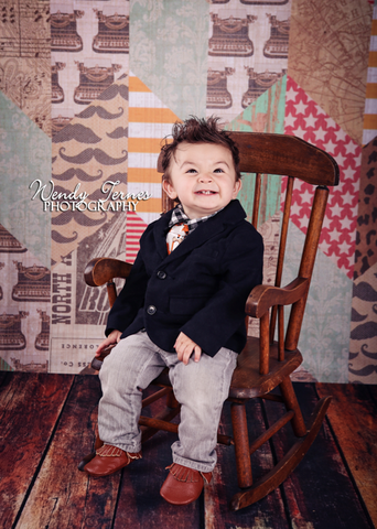 Hodge Podge Printed Photography Backdrop / 7268 - DropPlace