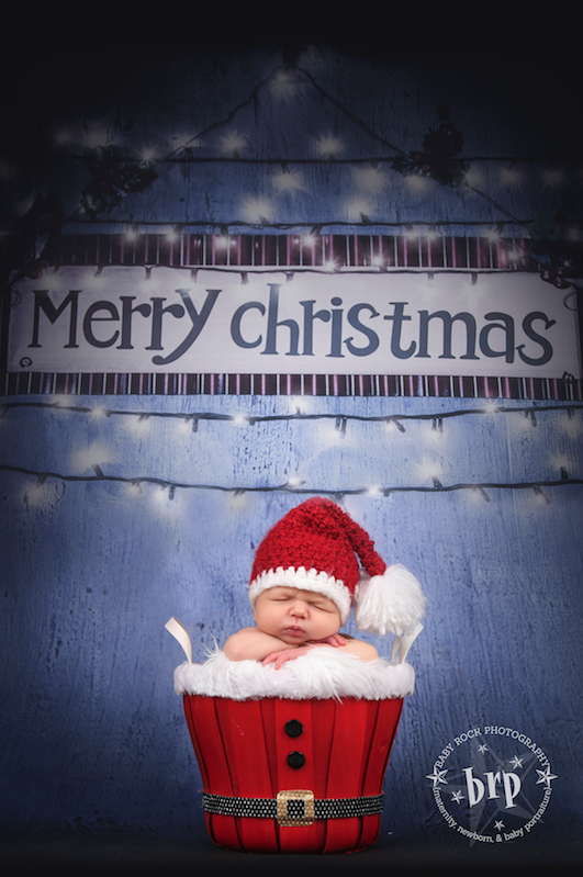Lights Christmas Backdrop Printed Photography Backdrop / 9434 - DropPlace