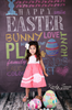 Easter Chalkboard Type Printed Photography Background / 1485