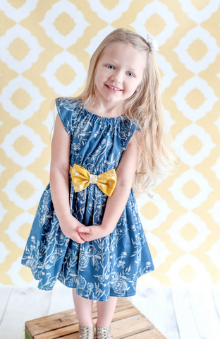 Beeswax Photography Backdrop / 8030 Yellow Pattern Backdrop - DropPlace