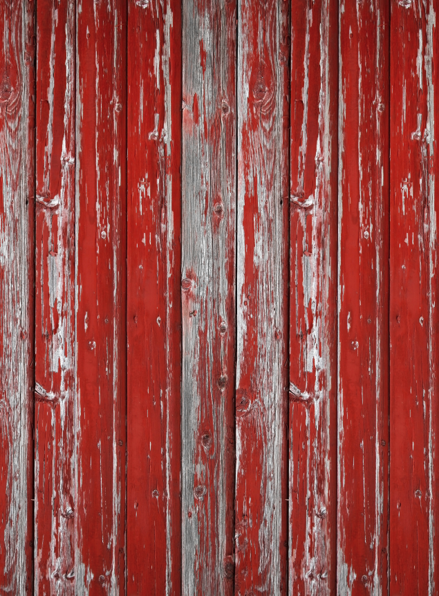 Printed Red Barn Wall Backdrop - 1429 - DropPlace