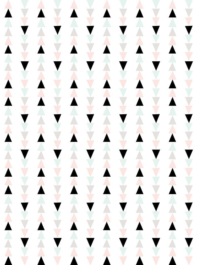 Black And Pastel Triangle Printed Background - 6163 - DropPlace