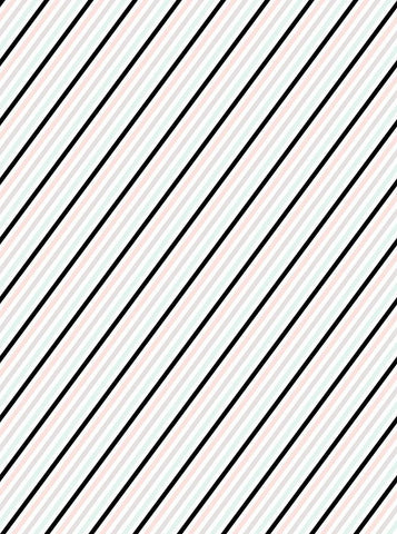 Black And Pastel Diagonal Stripes Printed Backdrop - 6167 - DropPlace