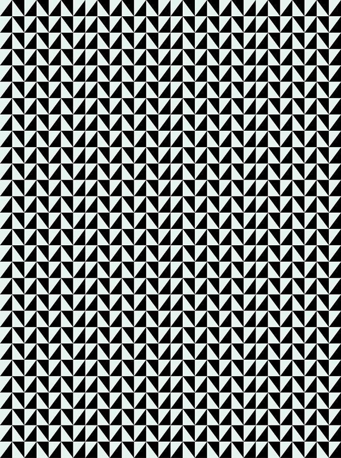 Mint And Black Triangle Pattern Backdrop - 6172 - DropPlace