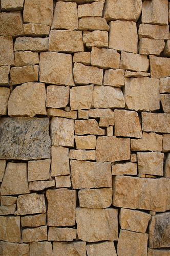 Brown Stone Piled Brick Wall Texture Backdrop - 6254 - DropPlace