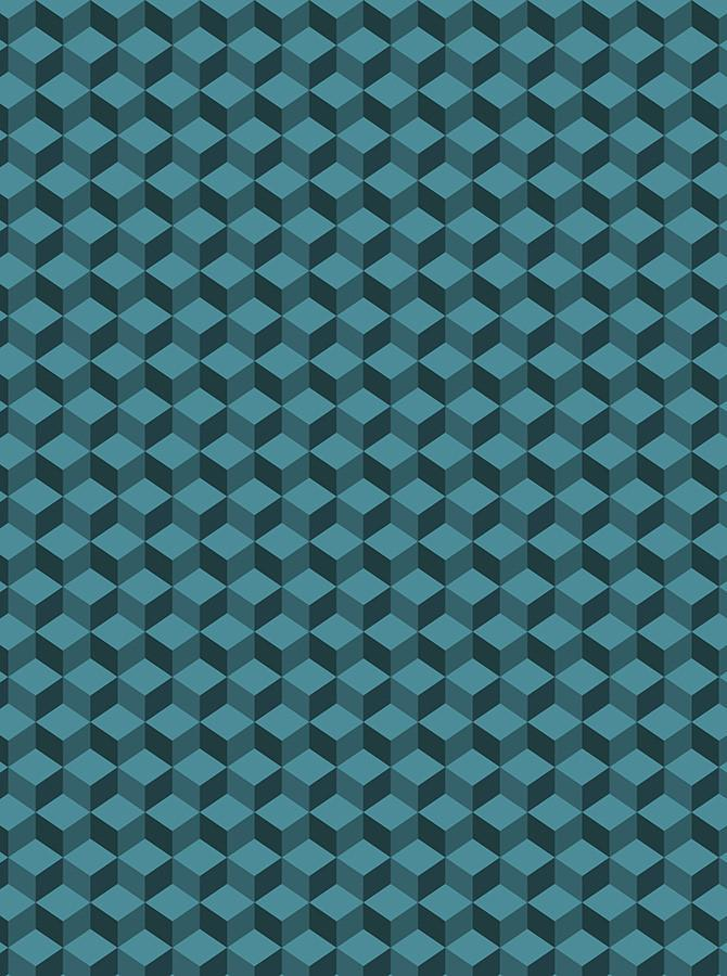 Hexagon Teal Photography Backdrop - 6761 - DropPlace