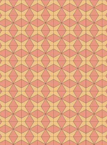 Coral and Yellow Geometric Printed Backdrop - 6763 - DropPlace