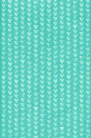 Teal Little Hearts Photography Background / 7248 - DropPlace