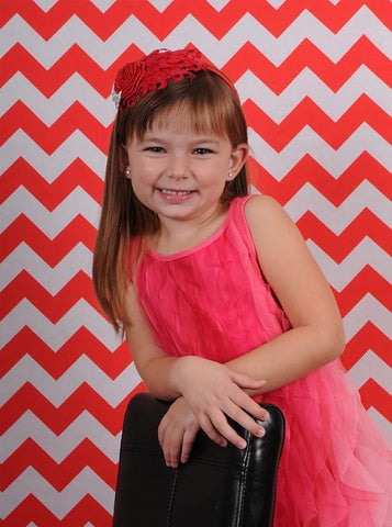 Red Chevron Backdrop - 9146 - DropPlace