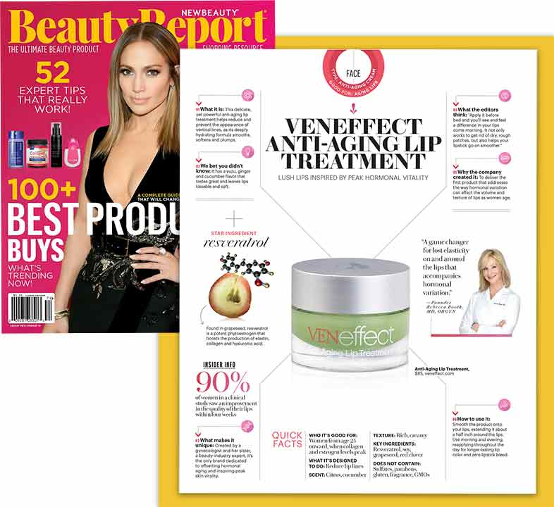 Beauty Report says VENeffect is a powerful anti-aging lip treatment