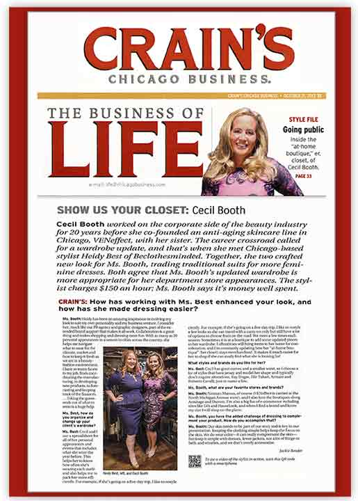 Crain's Chicago Business profiles VENeffect Anti-Aging Skin Care founder Cecil Booth
