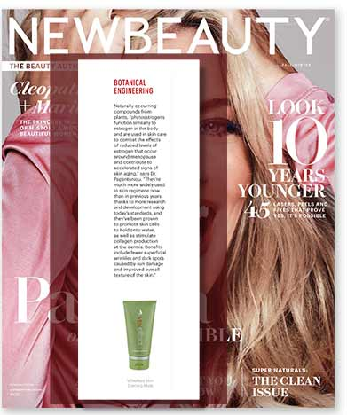 New Beauty Magazine reviews VENeffect Anti-Aging Skin Care to combat reduced estrogen