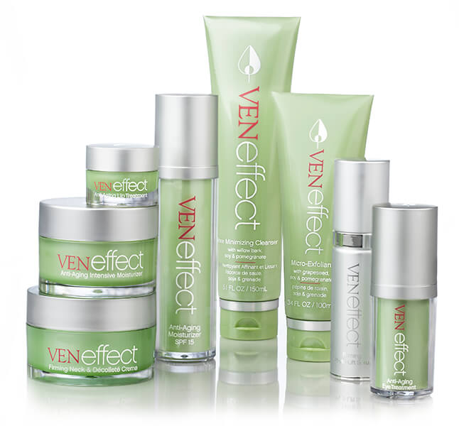 Group Photo of the VENeffect Skin Care line