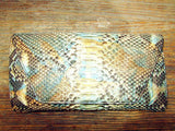 Snake Skin Clutch Yellow & Blue & Black