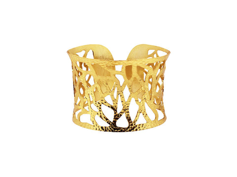 Crackle Cutout Gold Vermeil Cuff