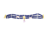 Lapis, Amethyst, and Tourmaline Bracelet