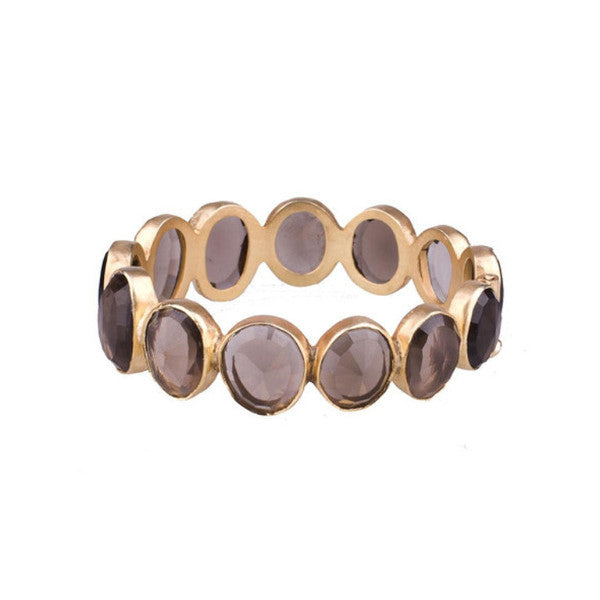 Smoky Quartz Eternity Bangle