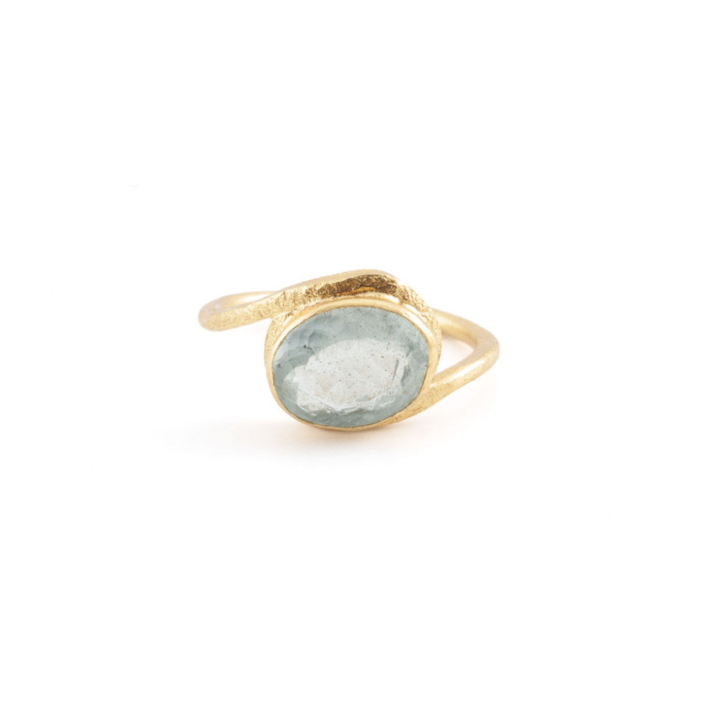 Aquamarine Wrap Ring