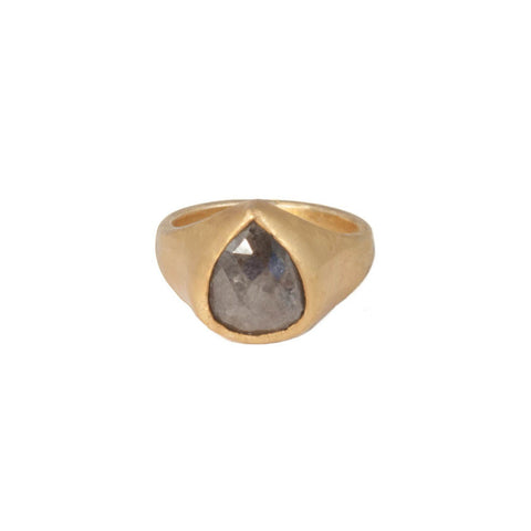 Black Diamond Ring Teardrop