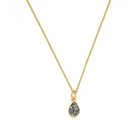 Black Diamond Shards Pendant Necklace