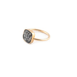 Black Diamond Shards Square Ring