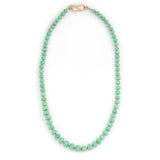 Crysoprase Faceted Bead Necklace
