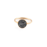 Black Diamond Shard Circle Ring