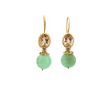 Citrine Chrysoprase Earrings
