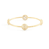 Diamond Mosaic Circle Bangle