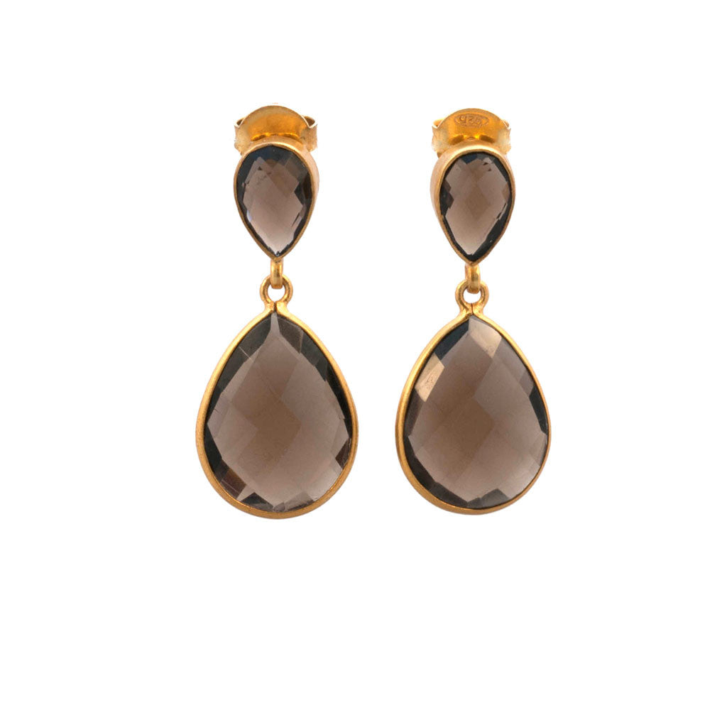 Smoky Quartz Earring Teardrop