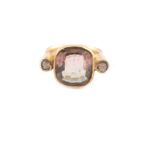 Fluorite Diamond Accent Stones Ring