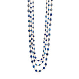 Geometric Three Strand Lapis Necklace
