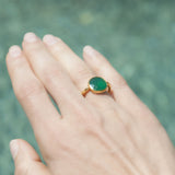 Green Onyz Simple Band Ring