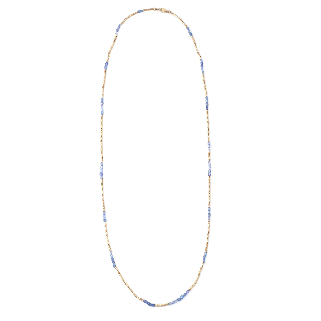 Iolite Nugget Bead Necklace
