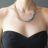 Labradorite Beaded Offcenter Necklace