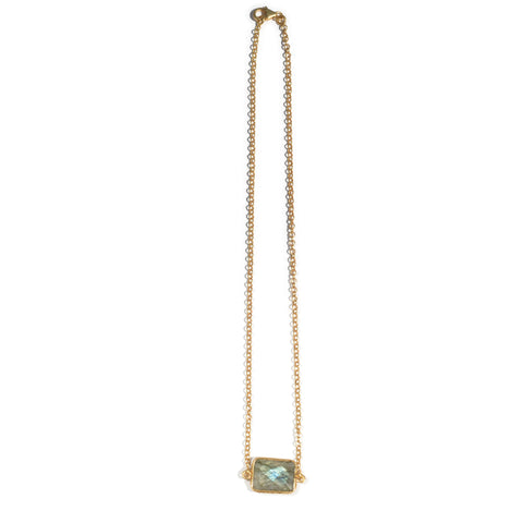 Labradorite Small Chain Necklace