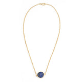 Lapis Circle Chain Necklace