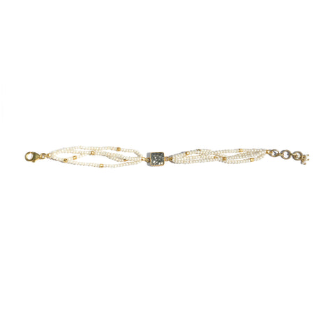 Pearl Seeds Black Diamond Bracelet