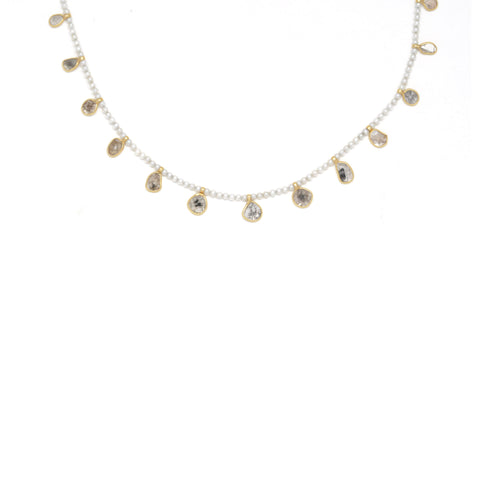 Pearl Diamond Shaker Necklace