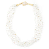 Rock Crystal Multi Strand Beaded Necklace